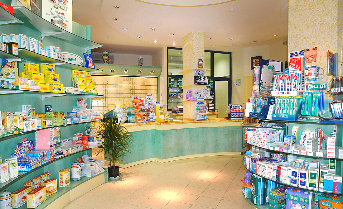 Pharmacy Shelves Design Italy